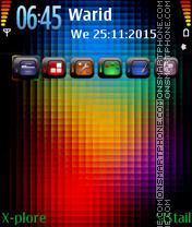 Rainbow Colors es el tema de pantalla