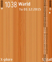 Wooden es el tema de pantalla