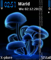 Blue Mushrooms es el tema de pantalla
