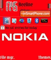 Nokia Red theme screenshot