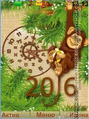 2016 - year Monkey es el tema de pantalla