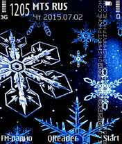 Snowflakes Theme-Screenshot