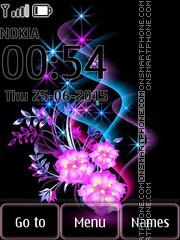 Glowing Flowers 02 es el tema de pantalla