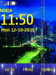 Night In The City es el tema de pantalla