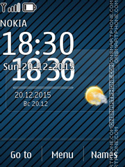 Blue Flash Clock es el tema de pantalla