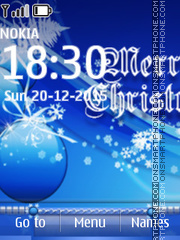 Blue Christmas Balls 01 theme screenshot