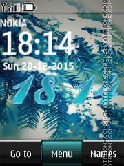 Winter Digital Clock 04 theme screenshot