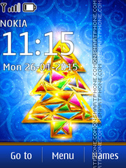 New Year Tree 02 theme screenshot