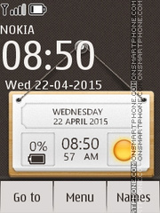 Скриншот темы Hanging Notes Clock Nokia X2