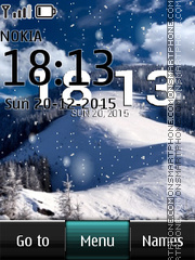Winter Digital Clock 05 es el tema de pantalla