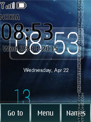 Day Night Clock 01 theme screenshot
