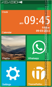 Windows Phone Inspired es el tema de pantalla