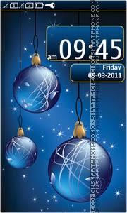 Christmas balls 05 theme screenshot
