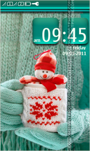 Snowman 13 theme screenshot