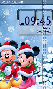 New Year with Mickey Mouse es el tema de pantalla