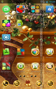 Black Xmas Decorations es el tema de pantalla