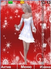 Snow Maiden theme screenshot