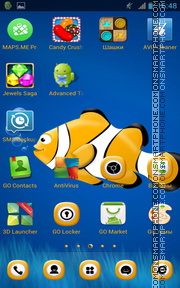 Little Yellow ClownFish es el tema de pantalla