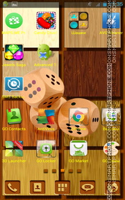 Wooden Dice theme screenshot