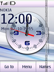 Clock White theme screenshot