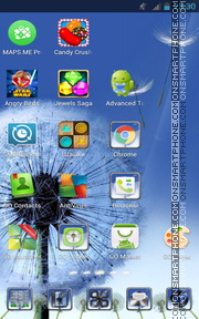 Dandelion as Samsung Galaxy theme screenshot