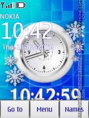 Snow clock es el tema de pantalla