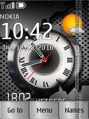 Clock Metal es el tema de pantalla