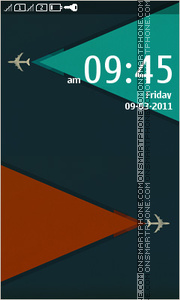 Minimalism Airplanes theme screenshot