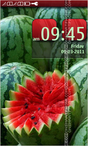 Watermelons tema screenshot