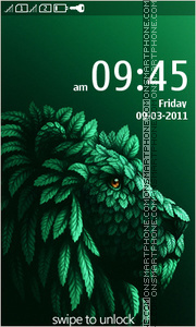 Lion Abstract theme screenshot