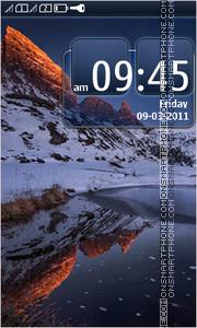 Snowcapped mountains theme screenshot