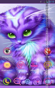 Cute Kitty 13 tema screenshot
