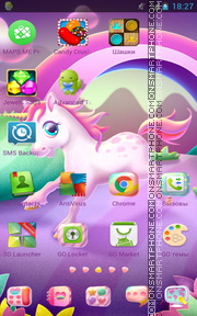 Unicorn 05 tema screenshot