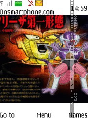 Dragon Ball Z Freezer theme screenshot