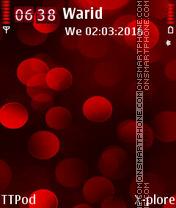 Red Spheres es el tema de pantalla