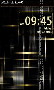 Скриншот темы Black and gold abstract