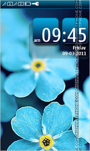 Blue Flowers 07 theme screenshot