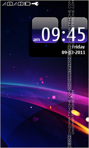 Abstract blue ray theme screenshot