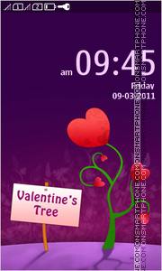 Valentines Tree 01 theme screenshot