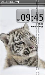 Tiger in snow es el tema de pantalla