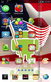 USA Flag 03 theme screenshot