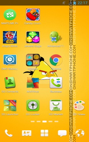 Angry Birds Yellow tema screenshot
