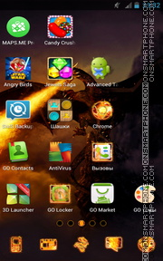 Dragon Fire 02 theme screenshot