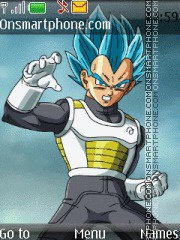 Dragon Ball Z Vegeta theme screenshot