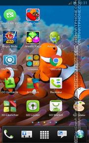Underwater with Clownfish es el tema de pantalla