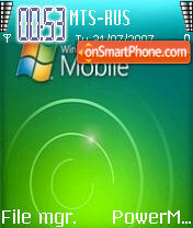 Windows Mobile 2007 theme screenshot