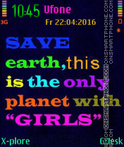 Save Earth theme screenshot