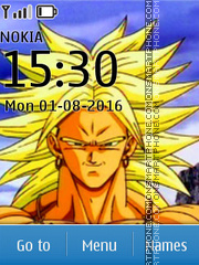 Dragon Ball Z Broly tema screenshot