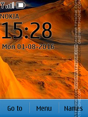Скриншот темы Desert