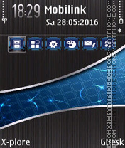 Blue Crystals tema screenshot